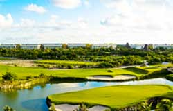 The Golf Course El Manglar at the Grand Mayan Resort is the closest to Playa Del Secreto