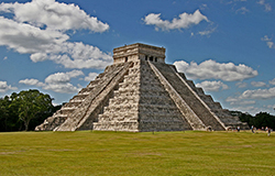 Puerto Morelos Secret Beach Villa guest visit the Mayan Pyramid of Chichen Itza