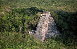Puerto Morelos Secret Beach Villas guest visit the Mayan Ruins at Coba in the jungle
