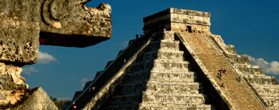 Many of Cancun's tourists take an excursion to see the Mayan Ruins at Tulum.