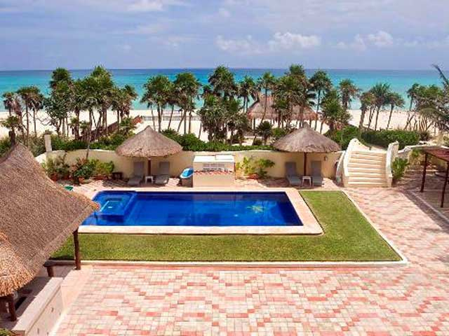 Villa Sol y Luna near Puerto Morelos is a perfect location for your large group vacation.