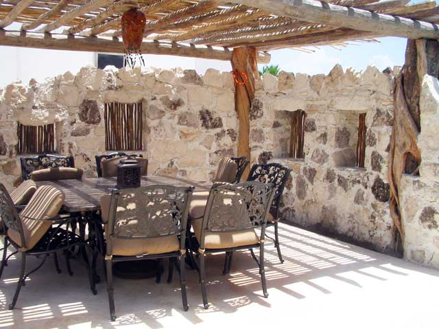 Hacienda Del Secreto: Each villa has an outside Patio Dining Table and Lounge Chairs